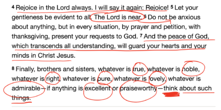 Anxiety and Philippians 4